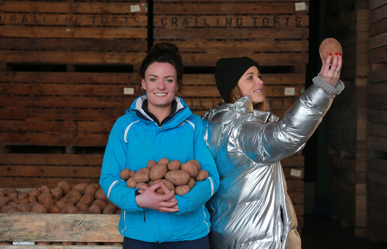Cat Hepburn, spoken word artist, visits Sarah Dagg, a young potato farmer, to get inspiration about the effort that goes into growing potatoes, often destined for the bin
