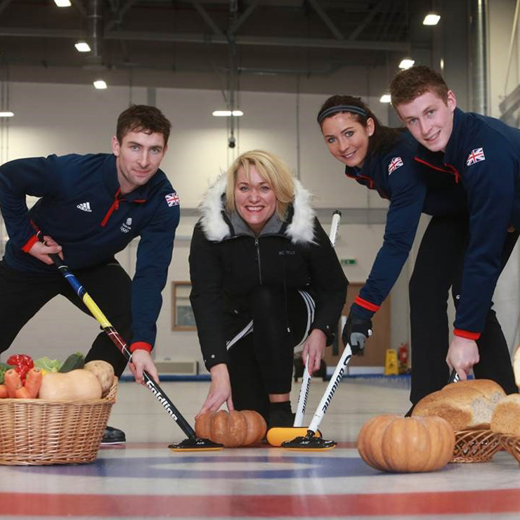Olympic curling stars Eve Muirhead and brothers urge everyone to 'love their freezers'
