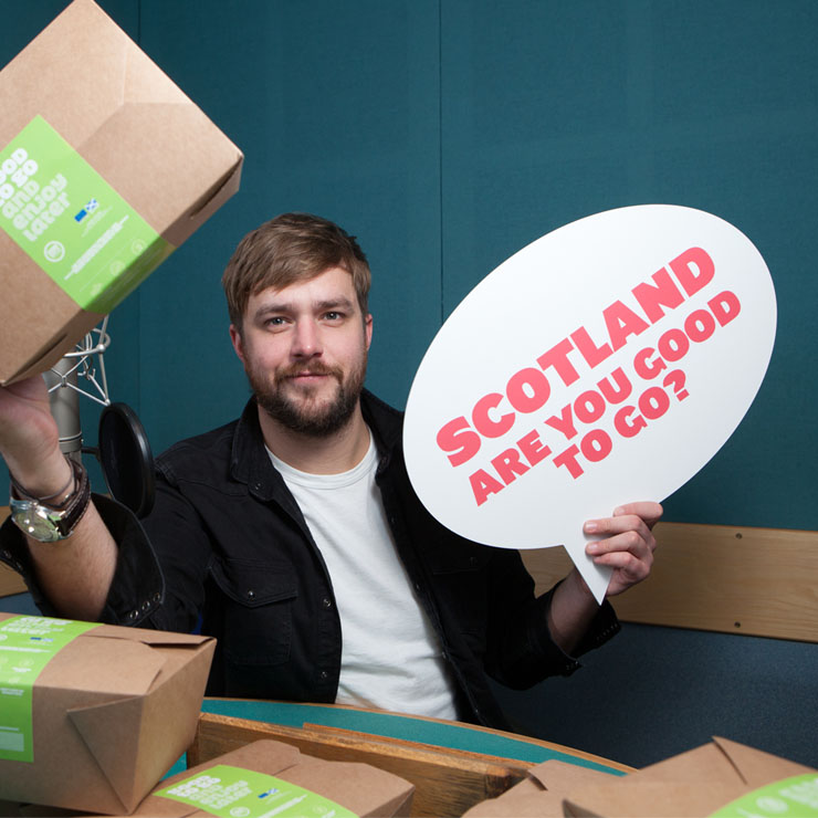 Are you 'Good to Go'? Iain Stirling, calls on Scots not to dump food this Valentine's Day