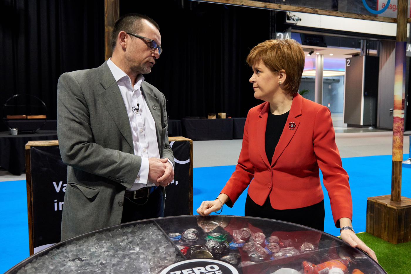 Zero Waste Scotland CEO Iain Gulland with Scottish First Minister Nicola Sturgeon