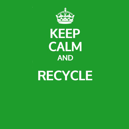 Keep calm and carry on - recycling!