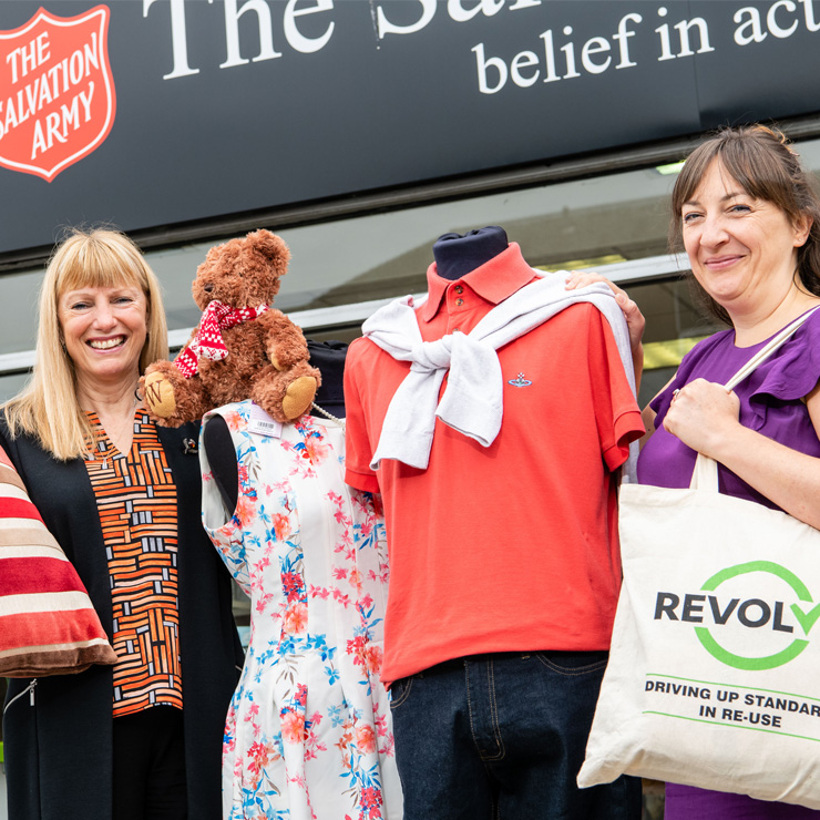 Salvation for second hand shopping as major high street charity chain awarded Revolve seal of approval