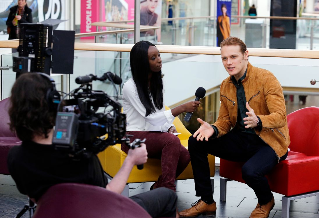 Interviewing Sam Heughan for Pass it on Week