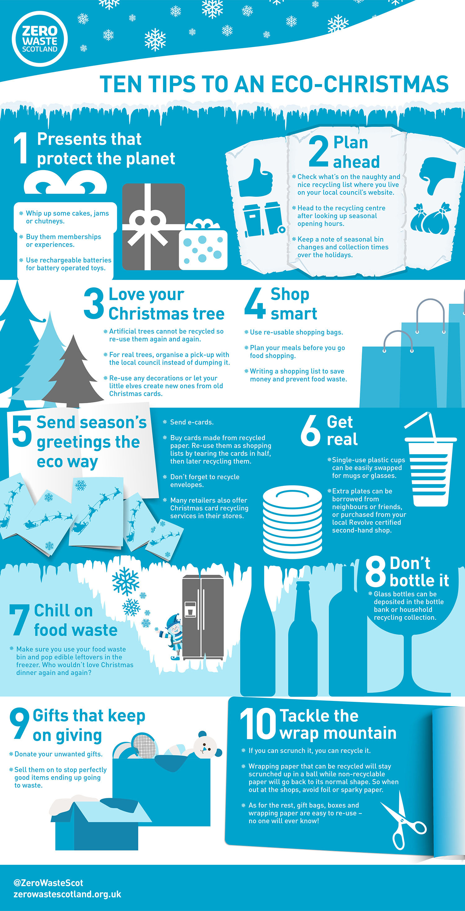 Waste free Christmas infographic