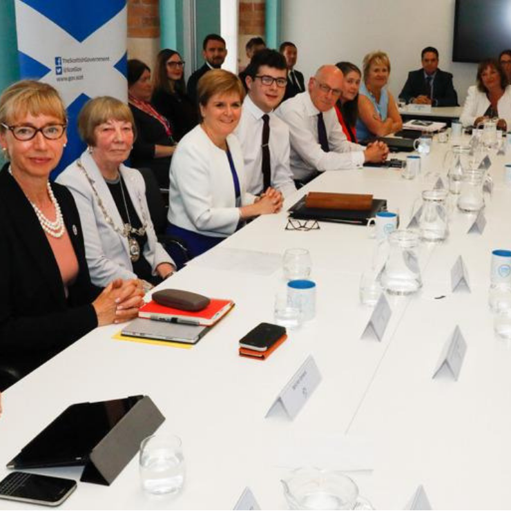 Scotland's Travelling Cabinet meeting at Zero Waste Scotland offices
