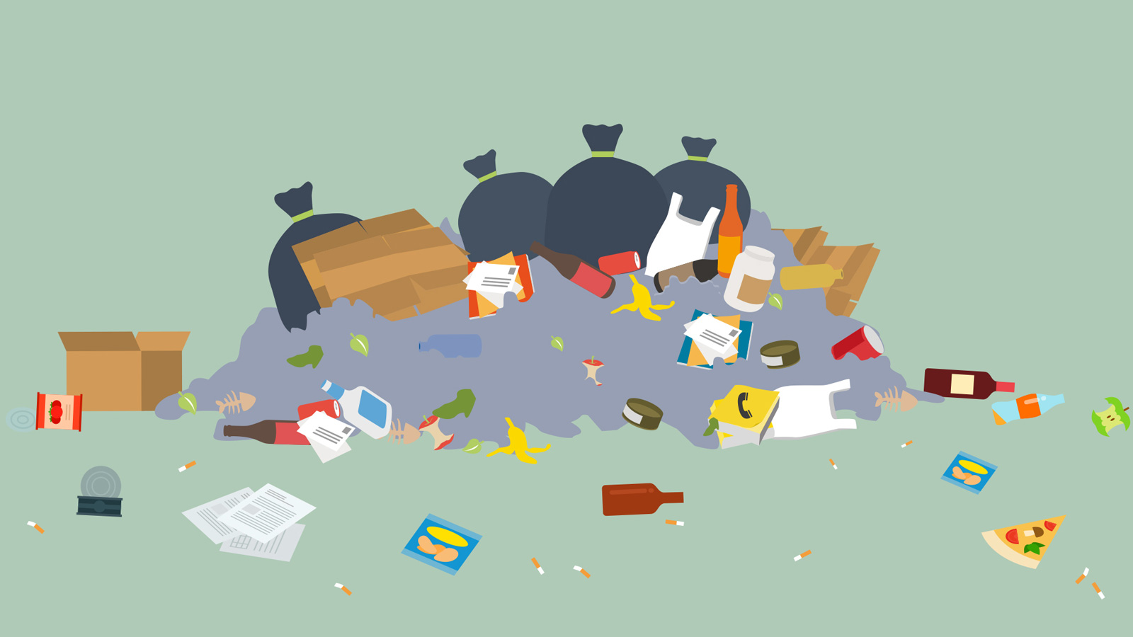Illustration showing litter attracts more litter